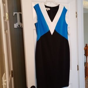 Kasper multicolored vneck dress